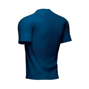 COMPRESSPORT Tee-shirt  manche courte TRAIL HALF-ZIP FITTED Homme | Bleu